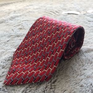 3 for $25 Jhane Barnes Red Silk Tie